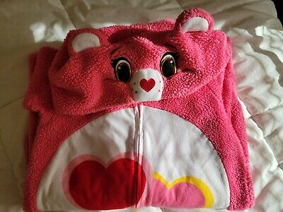 £7.31 • Buy Care Bear Love A Lot One Piece Pajamas Size Xs Womens Gently Worn Costume
