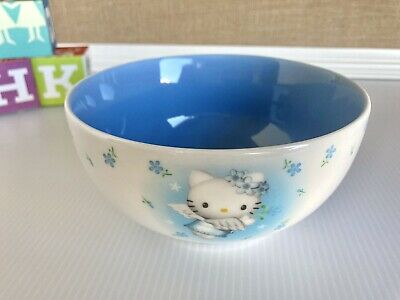 £51.30 • Buy Vintage Hello Kitty Blue Angel Bowl Ceramic Soup Or Cereal Bowl Sanrio 2000