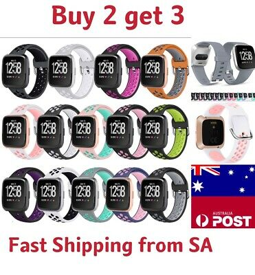 AU5.50 • Buy Replacement Band For Fitbit Versa 1 2 Lite  Silicone Strap Wristband Sports Band