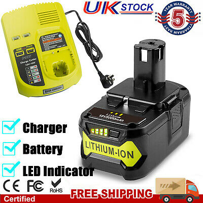 £21.99 • Buy For RYOBI P108 18V 18 Volt One+ Plus High Capacity Lithium-ion Battery / Charger