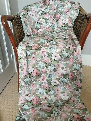 £40 • Buy Sanderson Fabric Chelsea Rose Floral Curtains Home Made Double Sided 44 X 78