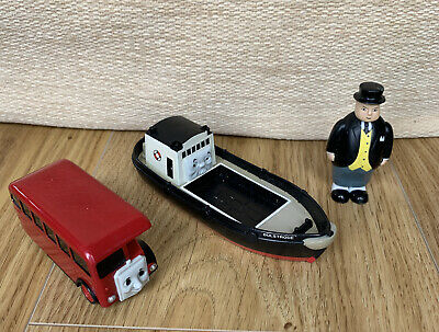 £14.99 • Buy Thomas The Tank Engine Trackmaster Bulstrode Boat Bertie Bus And Fat Controller