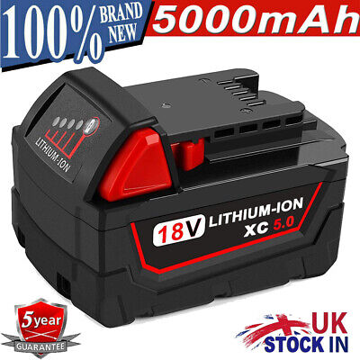 £19.99 • Buy For Milwaukee M18B 48-11-1860 18Volt Lithium XC EXtended Capacity Battery 5.0Ah