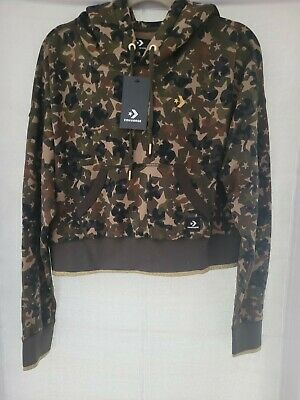 £25 • Buy Converse Camouflage Cropped Hoodie Size M
