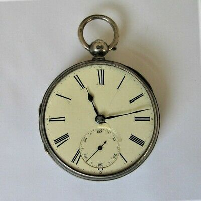 £20 • Buy Fusee Open Face Pocket Watch, Hallmarked Silver Case. Mid-1800s. Spares, Repair