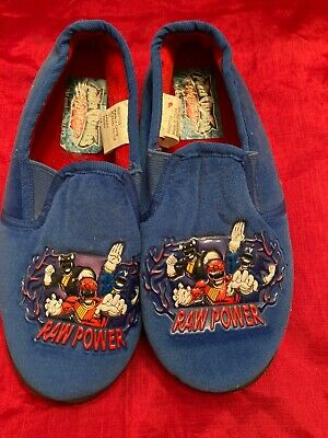 £4 • Buy New Power Rangers Slippers, Size 13 Blue/Raw Power On Front,soft Material Elast