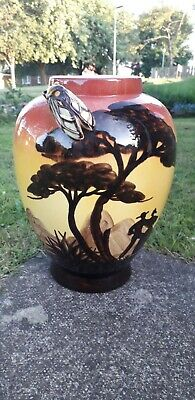 £19.99 • Buy Vallauris Cicada French Pottery Bug Insect Vase Signed Liz 25.5 Cm Tall