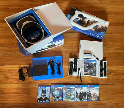 AU407.09 • Buy PlayStation VR Headset Bundle Plus Aim And Games. PSVR PS4 PS5 CUH-ZVR2