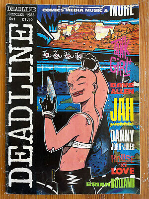 £200 • Buy Deadline Magazine Issue #1 1988 First Printing Comic 1st Appearance Of Tank Girl