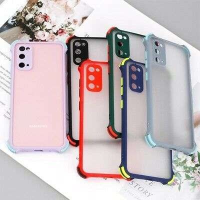 AU4.38 • Buy Candy Color Clear Case For Samsung S20 S10 S9 S8 Plus A51 A71 Hard PC Back Cover