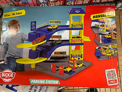 £19.50 • Buy Toy Car Park Station Cars With LIFT & Petrol Pump A Gift Play Set By Dickie Toys