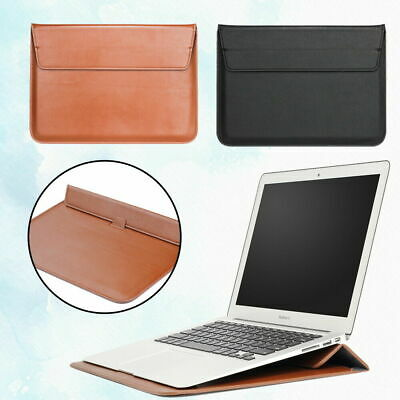 £6.99 • Buy Leather Laptop Carry Pouch Sleeve Case Stand Bag For Apple IPad/Macbook NOTEBOOK