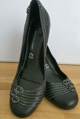 £2.99 • Buy NEXT Black Genuine Leather Sole Reviver Comfortable Wedge Shoes Heels Size 6.5