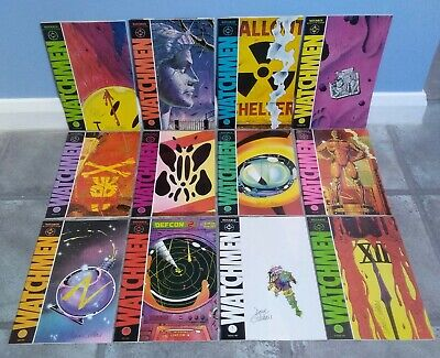 £1699 • Buy SIGNED WATCHMEN 1st Print First Edition #1 - 12 Comics Dave Gibbons + Alan Moore