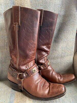 £80 • Buy Vintage Sancho Cowboy Boots Size 38 Made In Spain Boho