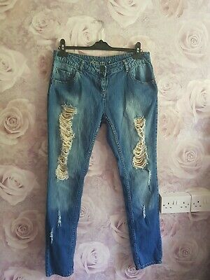 £4.99 • Buy 💙💚💛Falmer Ripped Sequin Skinny Jeans Size 14 Blue