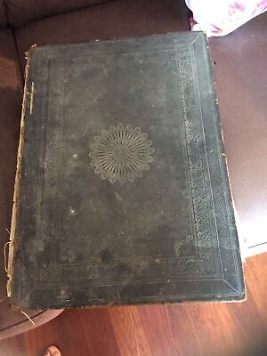 £20 • Buy Holy Bible 1864 (  Or Earlier?) Large Leather Bound Old & New Testaments  Family