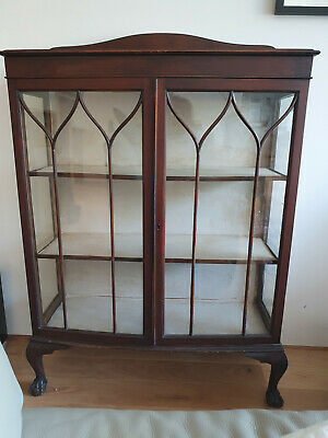 £23 • Buy Antique Glass Fronted Cabinet, Mahogany
