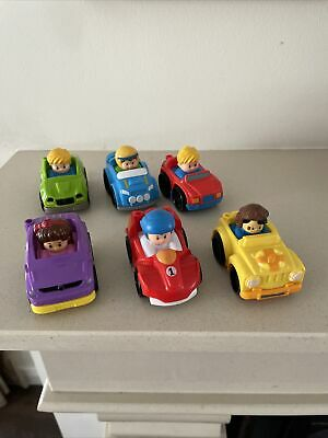 £15 • Buy Fisher Price Little People Push Along Toy Cars Kids Toys X 6