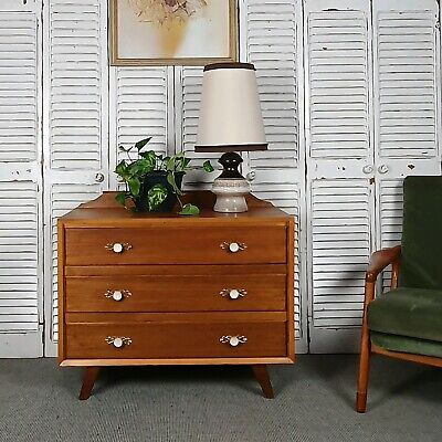 AU325 • Buy Vintage Mid Centruty Dresser Chest Of Drawers With Mirror