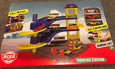 £13.50 • Buy Toy Car Park Station Cars With LIFT & Petrol Pump A Gift Play Set By Dickie Toys