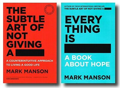 AU29.90 • Buy Mark Manson THE SUBTLE ART OF NOT GIVING A F*CK EVERYTHING IS F*CKED ABOUT HOPE