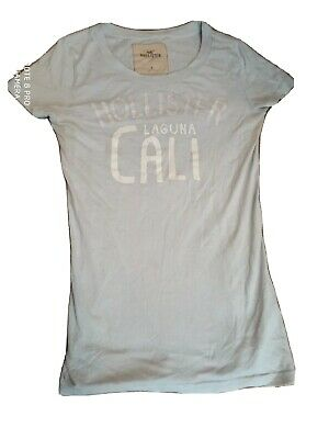 £2 • Buy Hollister Kids T Shirt, Light Blue, Sized Small, Used But Okay Condition