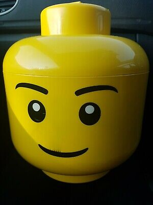 £14.99 • Buy  Lego Head Storage Box - Lego Man Yellow Smiley Face 11  Collectable. Free Post