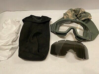 £7.31 • Buy NEW ESS US Army Tactical Ops Goggles Clear Tint Military NVG Ballistic Case