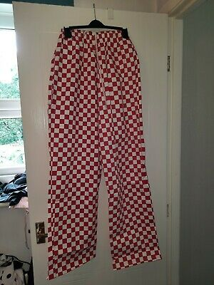 £6.99 • Buy New Xxxl Red Checked Unisex Chef Pants/trousers