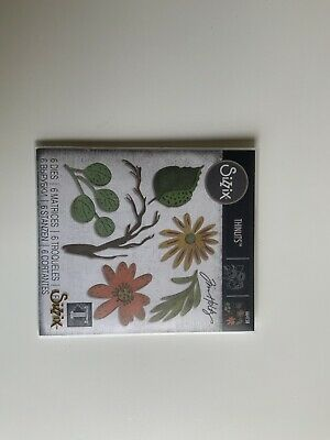£5 • Buy Sizzix Thinlits - Tim Holtz 664158 - Funky Floral, Large