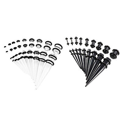 £4.99 • Buy 36 Pieces Solder Ear Knife Stretching Kit Plug Tunnel Cone 14g 00g Expander Set