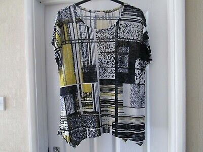 £1.50 • Buy Apricot Size 22/24 Top/tunic (label Says 14) Navy, Ivory, Mustard Yellow