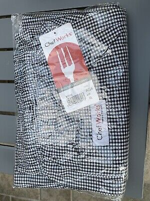 £15 • Buy Chef Works Unisex Easyfit Pants Trousers A026 Size XL 42/44  BNWT Black Check
