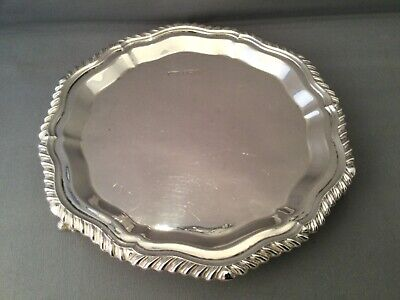 £195 • Buy Solid Silver Card Tray/small Salver, Sheffield, Roberts & Dore, C1975