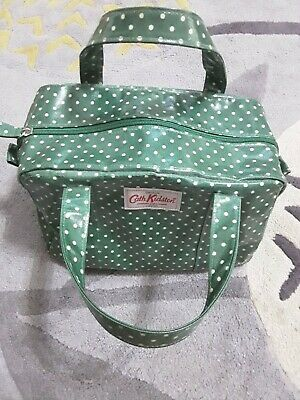 £6.99 • Buy Cath Kidston Green Spotty Top Handle Bag With Zip Clisure 💕