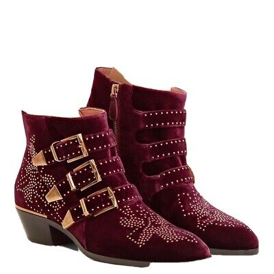 £300 • Buy Chloe Susanna Boots, Burgundy Size 5 - Excellent Condition - Worn Once