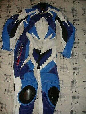 £49.99 • Buy One Piece Spada Race Track Day Leathers Suit .. Size 44   Armoured, Knee Sliders
