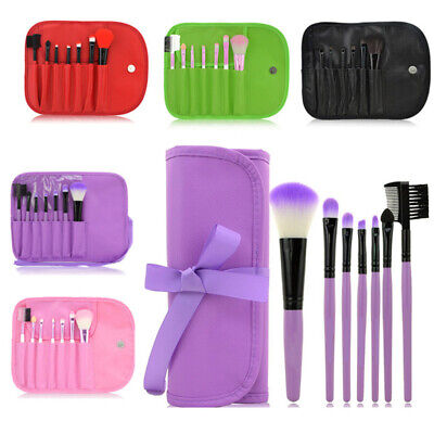 AU10.06 • Buy 7Pcs Makeup Brushes Set Toiletry Cosmetic Foundation Make Up Kit With Case NEW
