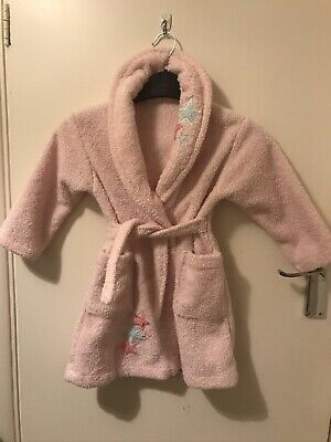 £3 • Buy British Home Stores Girls Age 18-24 Mths Dressing Gown Pink Fleece Star Appliqué