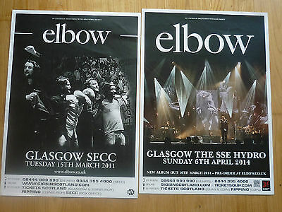 £7.50 • Buy Elbow Concert Posters - Collection Of 2 From Scottish Tour Shows Gig Memorabilia