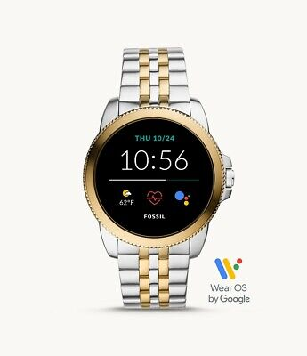 AU250.30 • Buy Fossil Gen 5E Two Tone Stainless Steel HR Cardio Level SmartWatch 44mm FTW4051