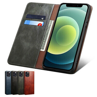 AU6.98 • Buy Leather Card Case For IPhone X XR XS Max 6 6s 7 8 Plus 11 12 13 Pro Back Cover