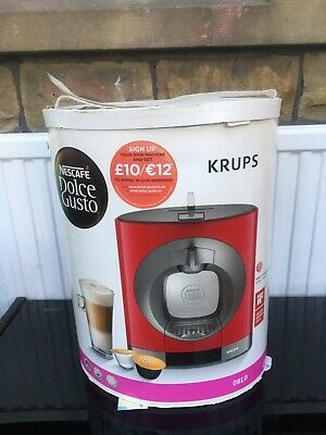 £45 • Buy NESCAFE Dolce Gusto Oblo Coffee Machine By Krups KP110540 - RED Boxed New