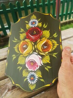 £10 • Buy Canalware Narrowboat Handpainted Roses And Castles  Plaque Canal Art Panel