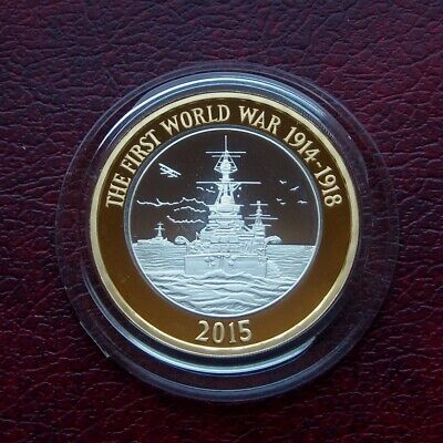 £23.55 • Buy UK 2015 Royal Navy Silver Proof 2 Pound Coin