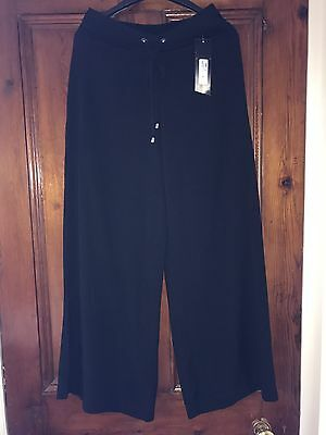 £5 • Buy Marks And Spencer's Beachwear Black Elasticated Trousers . Size 8 NWT