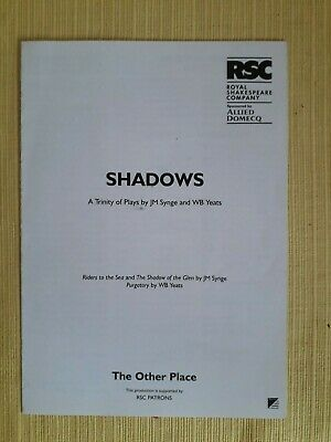 £2 • Buy Cast List - Shadows - RSC At The Other Place - 1998