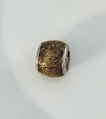 £5 • Buy Vintage Amore & Baci Gold Glitter Enamel Spacer Charm #46 Great Condition