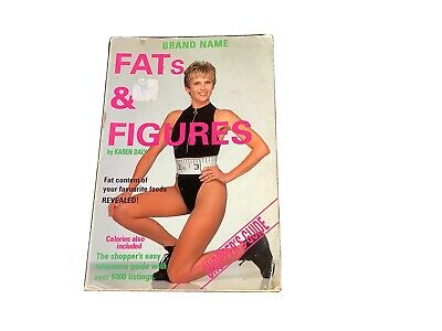 £6.35 • Buy Fats And Figures Book By Karen Daly - Calorie Counting Book For Everyday Foods